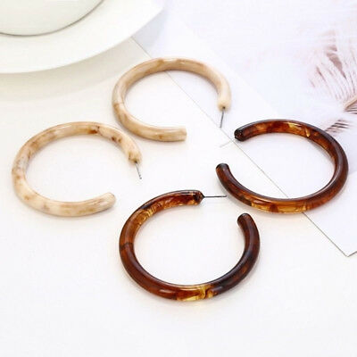 Women Acrylic Round Circle Hoop Ear Drop Earrings Resin Earrings Jewelry Gifts