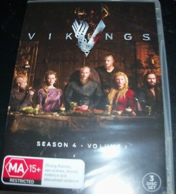 Vikings Season 4 - Volume 1 Australia Region 4) DVD – New