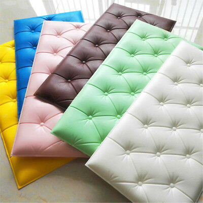 """3D PE Foam Self-adhesive Wall Sticker Panels Background Decal Home Decor 12""""x23"""""""