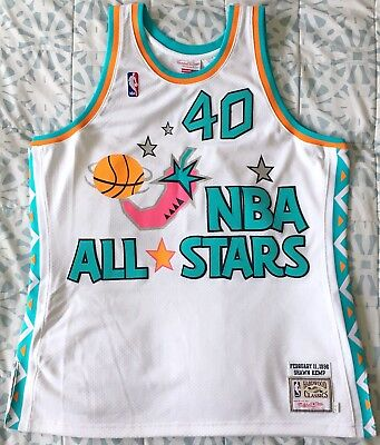 1a14e5c80 Authentic Shawn Kemp Mitchell Ness 1996 All-Star Jersey 48 XL Seattle Sonics
