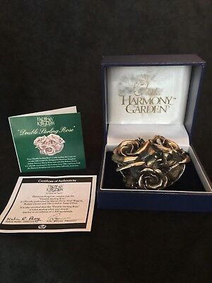 """Harmony Garden """"Double Sterling Rose"""" boxed figurine"""
