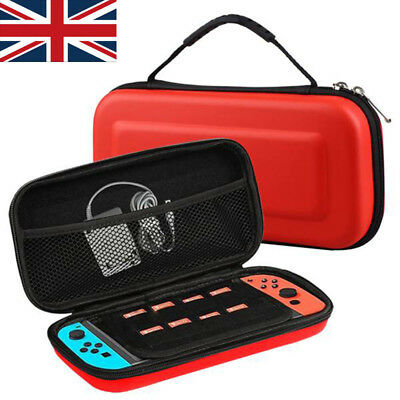 RED Slim EVA Hard Travel Case Cover for Nintendo Switch Console & Accessories