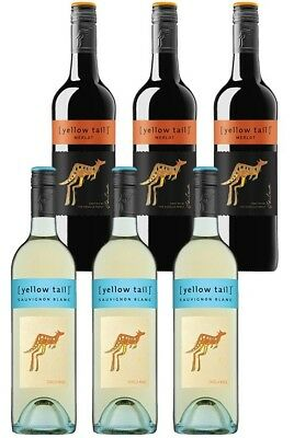 Yellowtail Sauvignon Blanc & Merlot Mixed Pack (6 x 750mL), SE AUS.