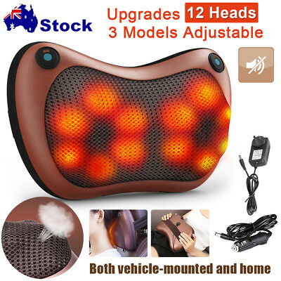 2019 NEW 12 Drives Shiatsu Massager Fr Body Back Massage Pillow Cushion Neck Car