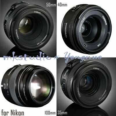 Yongnuo YN 100mm 50mm 40mm 35mm EF MF / AF Prime Fixed Lens for Nikon Camera