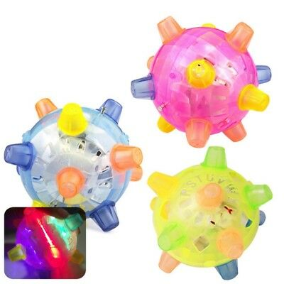 Flashing Dog Ball For Kids LED Pets Toys Jumping Joggle Vibrating Changing Color