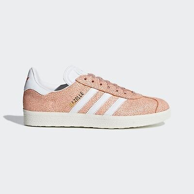 00334179677d Adidas Originals GAZELLE WHITE PINK SUEDE SHOES SNEAKERS TRAINERS RETRO  AQ0904