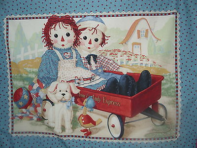 Raggedy Ann and Andy Express cot quilt (daisy kingdom)