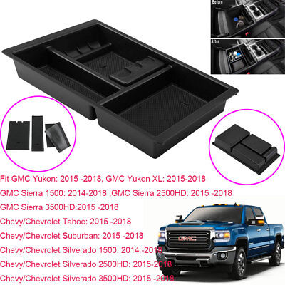 Front Center Console Trays Organizer Interior For Chevrolet GMC Sierra 2015-2018