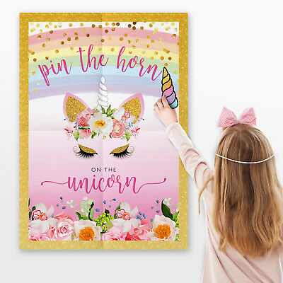 Pin the Horn on the Unicorn Games ~ Pin the Tail Game #018