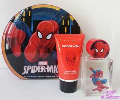 Confezione Spider-Man Marvel Profumo Eau De Toilette 50 Ml + Shower Gel 75 Ml