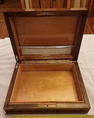 Vintage Dunhill Humidor Wood Cigar Box