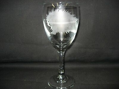 New Etched Porcupine Wine Glass
