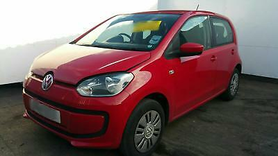 2014 Vw Up Passenger Side Manual Door Mirror In- Tornado Red Ly3D