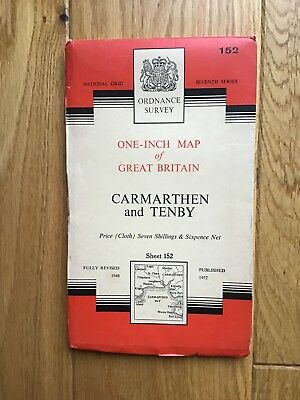 Ordnance One Inch Survey Map Of Carmarthen And Tenby