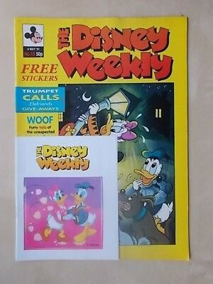 THE DISNEY WEEKLY COMIC ISSUE No 10 - MAY 8th 1991 - CLASSIC POSTER & FREE GIFT