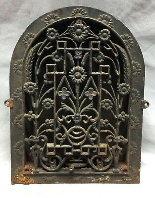 Antique Cast Iron Arch Dome Top Floor Register Heat Grate 9X13 Old Vtg 739-18C