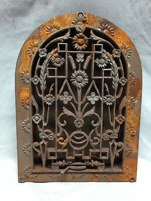 Antique Cast Iron Arch Dome Top Floor Register Heat Grate 8X12 Old Vtg 740-18C