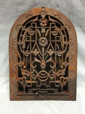 Antique Cast Iron Arch Dome Top Floor Register Heat Grate 8X12 Old Vtg 741-18C