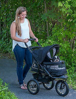 Pet Gear NV NO-ZIP Pet Stroller in DALMATIAN, ROSÉ, or SKYLINE  dogs up to 70 lb