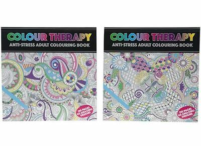 Colour Therapy - Anti Stress Adult Colouring Book, 60 Designs! 21 x 21cm