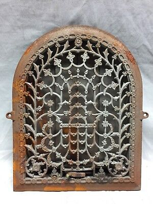 Antique Cast Iron Arch Dome Top Floor Register Heat Grate 9X12 Old Vtg 743-18C