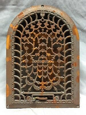 Antique Cast Iron Arch Dome Top Floor Register Heat Grate 8X12 Old Vtg 744-18C
