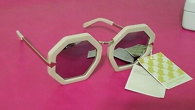 705a78300b31 Karen Walker Mirror Lenses Gray Grey Moon Disco 53mm Octagonal Sunglasses   300