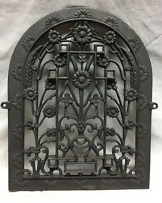 Antique Arched Top Heat Grate Grill Floral Decorative Arch 11X14 745-18C