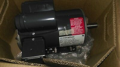 new 2hp marathon electric motor 145t 1725 115/208-230 DP