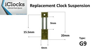 Brass French Clock Pendulum Suspension Spring. (20mm x 9mm x 4mm) (Type G9)