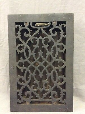 Antique Cast Iron Decorative Heat Grate Floor Register 7X11 Vintage Old 4-19D