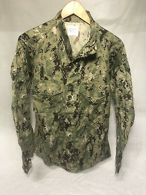 US NAVY NWU TYPE III AOR2 BLOUSE SHIRT TOP MEN'S MED REG WOODLAND  USN SEALs NEW