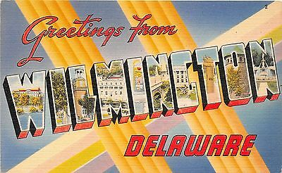 Large Letter postcard Greetings from Wilmington Delaware