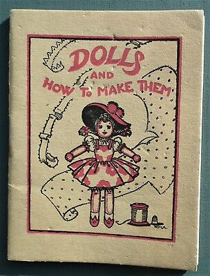 DOLLS AND HOW TO MAKE THEM vintage WW2 WWII 1940s sewing patterns cloth original