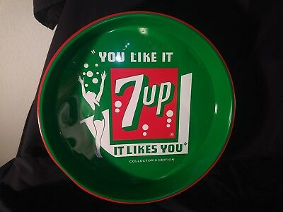 7UP You Like It Serving Tray 1992 Collectors Edition Excellent Condition 7 UP