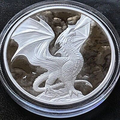 Anne Stokes Dragons Noble Dragon 1 oz .999 Silver Proof Hot Girl Dragon Round