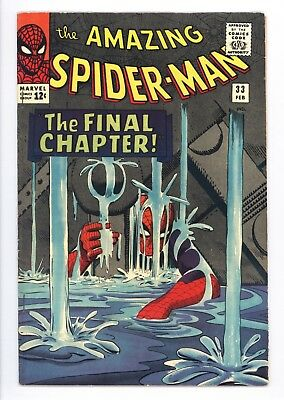 Amazing Spider-Man #33 Vol 1 Near Perfect High Grade Curt Conners Appearance