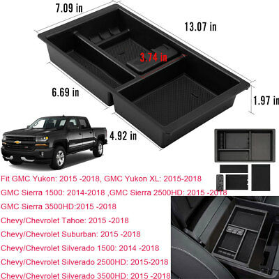 For Chevrolet Silverado GMC Sierra 1500 Front Center Console Organizer Glove Box
