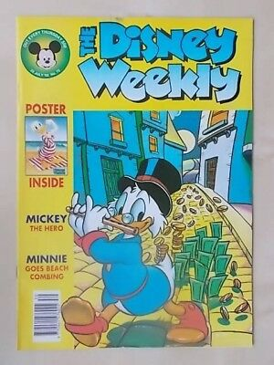 THE DISNEY WEEKLY COMIC ISSUE No 72 - JULY 22nd 1992 - WITH CLASSIC POSTER