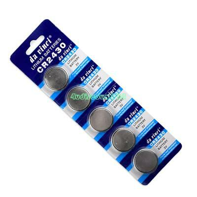 5 Pcs 3V Coin Cells Button Battery CR2430 DL2430 BR2430 ECR2430 KL2430 DFF5