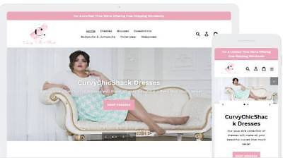 Shopify Dropshipping Women's Plus Size Fashion Website/Store - Ready Made