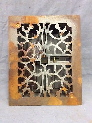Antique Cast Iron Decorative Heat Grate Floor Register 8X10 Vintage Old 13-19D