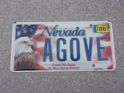 Nevada 2007 United We Stand license plate  #   AGOVE
