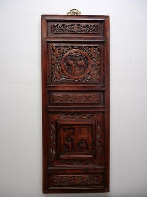 Antique Chinese Bedframe,  Wood Panel For Wall Deco 19c  (bb129)