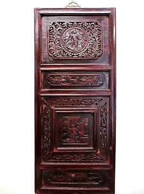 Antique Chinese Bedframe,  Wood Panel For Wall Deco 19c  (bb127)