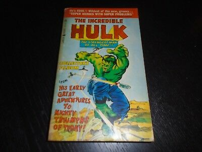 THE INCREDIBLE HULK Lancer Books Marvel Paperback #4 1966
