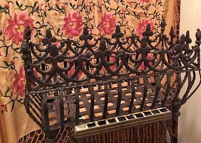 Vintage Cast Iron Victorian Style Pineapples and Acorns Footed Planter