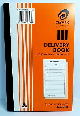 10 Pack Olympic 700 Carbonless Delivery Book - AO140869