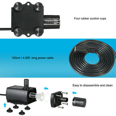 Decdeal Mini DC 12V 6W/10W Brushless Water Pump Kit Submersible Fountain N3X9